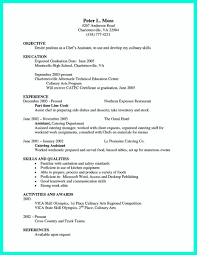 Impressive Objective For Resume Chef Skills Resume Resume For Your Job Application