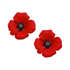 poppy earrings poppy enamel clip earrings large lest we forget uk