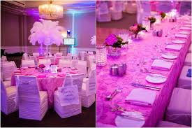 Table Decorations With Feathers Twins U0027 Pink U0026 Turquoise Blue B U0027nai Mitzvah Party Canada