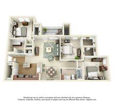 Three  Bedroom ApartmentHouse Plans Breakfast Bars - Apartment house plans designs