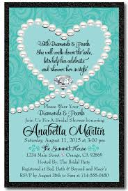 breakfast at s bridal shower diamonds pearls blue bridal shower invitation di 1507