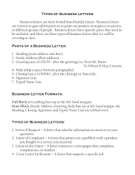 Business Letter Template Closing Three Types Of Business Letters The Letter Sample