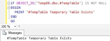 Temp Table Sql Server How To Check If Temp Table Exists In Sql Server Sqlhints Com
