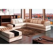 canapé sofa italien canapé d angle en cuir italien 6 7 places riva blanc et beige