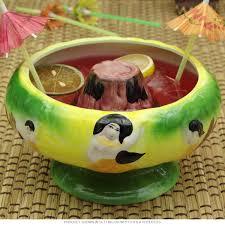 volcano center scorpion bowl 32 oz tiki bar accessories