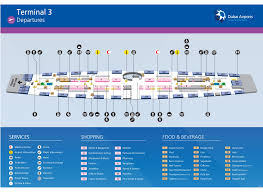 Dallas Terminal Map by Dubai Airport Map Terminal 3 Dubai Terminal 3 Map United Arab