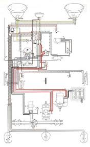 vw 1200 beetle wiring diagram electrical system schematic