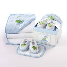 Personalize Baby Gifts Personalized Baby Boy Or Towel Bathtime Four Piece Gift Set