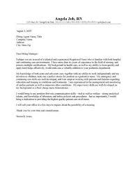 registered nurse cover letter example sample nursing cover letter