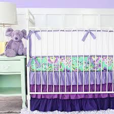 Bedding For A Crib Purple Ruffle Baby Bedding Caden
