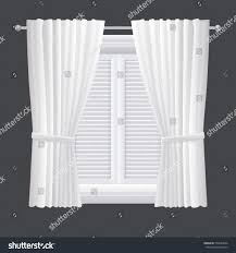 vector white closed shutter window isolated stock vector 575634664