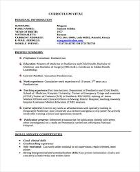 curriculum vitae sles for doctors india doctor curriculum vitae template 9 free word pdf document