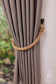 Rope Tiebacks For Curtains Chunky Rope Tiebacks Rustic Ties Manila Rope Tie Backs Curtain