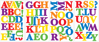 numbers alphabet wall stickers peel and stick childrens alphabet stikers