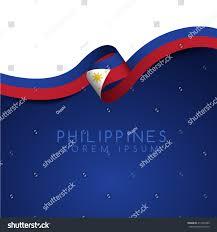 Phippines Flag Philippines Flag Ribbon Vector Illustration Stock Vector 411404359