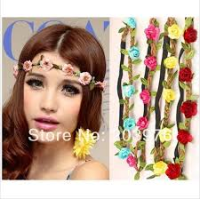 crochet flower headband mix color 2014 new fashion boho floral headwrap flower crown hair