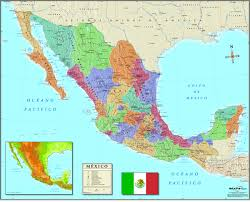map of the mexico mexico wall map in maps