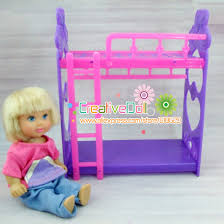 Doll House Bunk Bed Toys For Baby Play House Toys Platic Bunk Bed For Mini