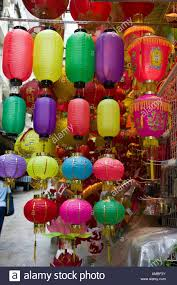 lanterns for sale just before the mid autumn festival in hong kong
