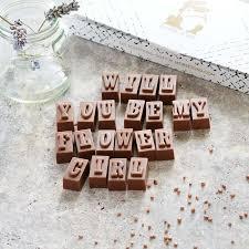 bridesmaid invite wedding invites personalised chocolate bridesmaid request