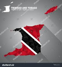 Flag For Trinidad And Tobago Trinidad Tobago Flag Overlay On Trinidad Stock Vector 285385874