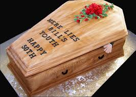 halloween casket 50th birthday cakes for men coffin cake for a 50th birthday