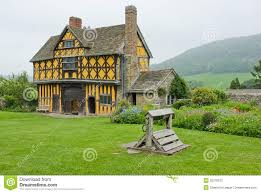 tudor manor gate house shropshire england stock photography