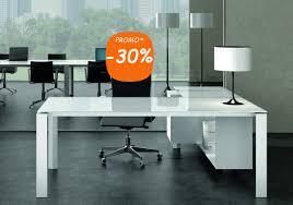 bureau verre trempé bureau direction verre blanc seven avec ou sans retour