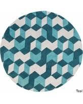 Round Blue Rugs Find The Best Black Friday Savings On 8 U0027 Mid Century Geo Prism
