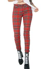 plaid vs tartan tripp nyc tartan plaid pants dolls kill