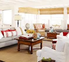 Coastal Cottage Living Rooms by A Beach Cottage That U0027s Black And White And Red All Over Hooked