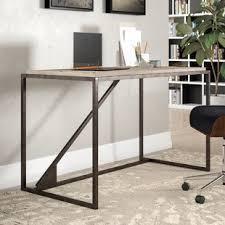 pipe desk with shelves industrial pipe desk wayfair