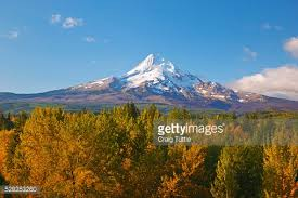 Valley Oregon Sunset Mt And River Valley Oregon Stock Photo Getty
