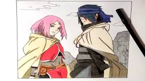 sasuke and speed drawing sasuke and traveling together