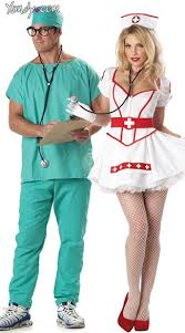 Doctor Costume Halloween Scrubs Couples Costume Doctors Couples Costumes Nurse Halloween