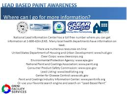 what is lead based paint ppt