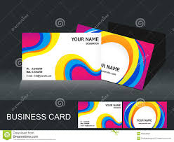 abstract colorful business card template royalty free stock images