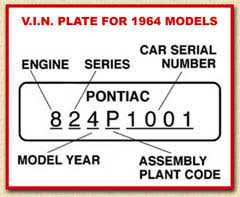 100 paint code by vin pontiac how to identify a 1967