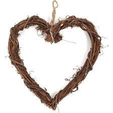 heart wreath rattan heart wreath 25 cm hobbycraft