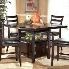 counter height dining table set w storage lazy susan sets with