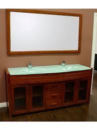 glass bathroom vanities in multiple styles