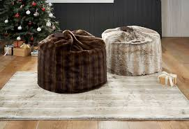 large faux fur bean bag from next next home interiors