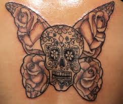 sugar skull butterfly designs pictures to pin on