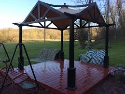 10 X 12 Gazebo Lowes by Lowes Garden Treasures 10 X 10 Pergola Replacement Canopy Gf