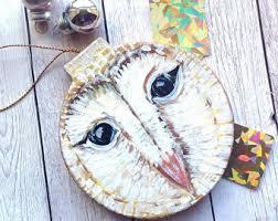 barn owl ornament etsy