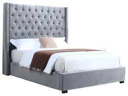 light grey upholstered bed incredible high profile light gray upholstered bed velvet