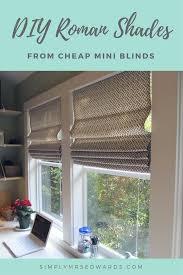 diy roman shades from mini blinds u2013 wayfair featured blogger