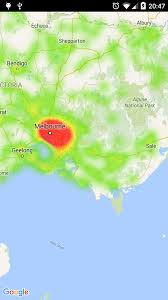 Google Maps For Android Increase Radius On Heat Map For Maps Api On Android Stack Overflow