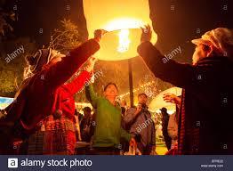 lanterns new year lighting lanterns at new year s luang prabang laos