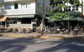 predawn shooting near south beach u0027s news cafe sends one to